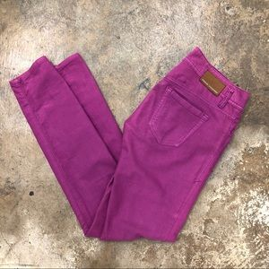 Armani Exchange Straight Leg Pants Jeans Fuchsia
